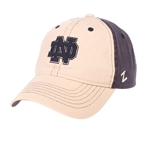 Notre Dame Team Colors (NCAA Notre Dame Fighting Irish Men's The Dean Relaxed Cap, Adjustable, Stone/Team Color)