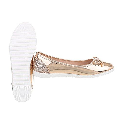 M Mocassini Ital Slipper Design Piatto Scarpe Donna Rosa 63 da 8nv6wqvIgS