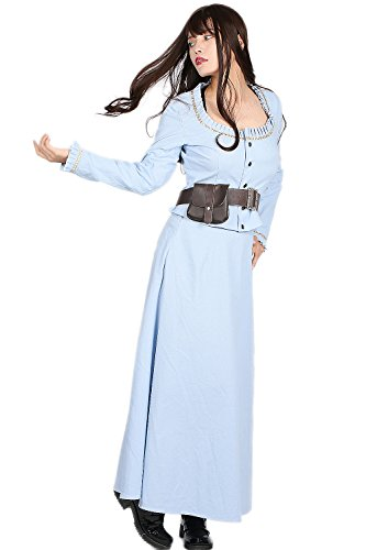 [Westworld Dolores Dress Deluxe Light Blue Outfits Womens Cosplay Costume S] (Dolores Umbridge Costume)
