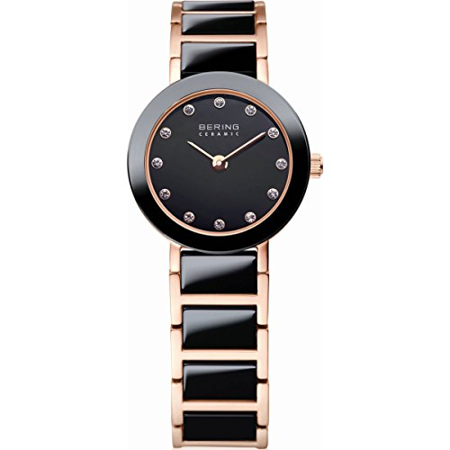 BERING Time 11422-746 Women's Ceramic Collection Watch with Ceramic Link Band and scratch resistant sapphire crystal. Designed in Denmark.