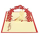 3D Hollow Wedding Carving Origami Invitation Greeting Card Xeminor