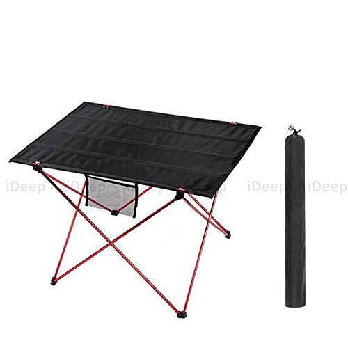 Indoor Multi-Function Accent Table Study Computer Home Office Desk Bedroom Living Room Modern Style End Table Sofa Side Table Coffee Table Portable Folding Camping Table by DASII