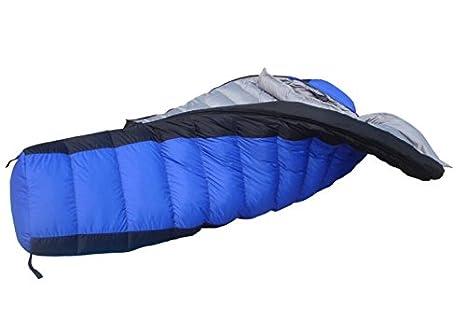 TTYY Bolsa de dormir de plumas de invierno caliente al aire libre Camping turismo , blue: Amazon.es: Deportes y aire libre