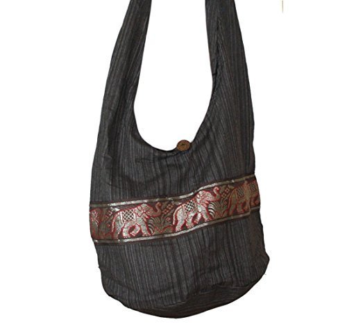 Hippie Elephant Print Sling Shoulder Bag Sling Purse Crossbody Handmade New Color : Brown (Pattern Purse Sling)