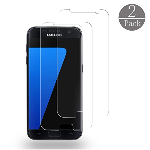 Galaxy S7 Screen Protector,Cabras [2 Pack]Tempered Glass [Touch Agile] 3D Glass Anti-Scratch, Anti-Fingerprint, Bubble Free [Easy to Install] for Samsung Galaxy S7