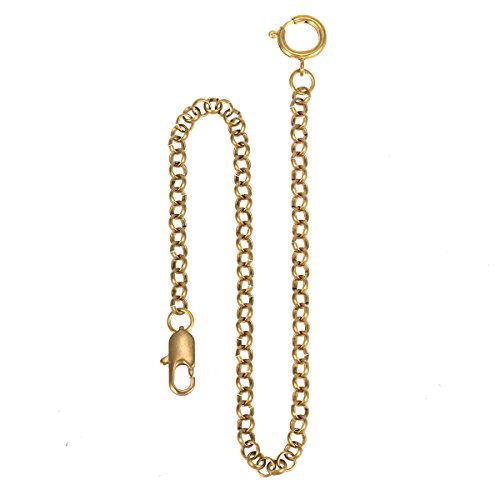Pocket Watch Fob Chain - Pure Copper ManChDa Watch Chain Link 14 inch Golden Gorgeous