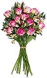 Benchmark Bouquets Fresh Cut Charming Roses & Alstroemeria, No Vase Deal
