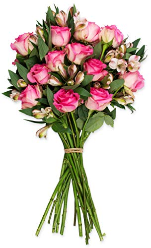 Benchmark Bouquets Charming Roses and Alstroemeria, No...