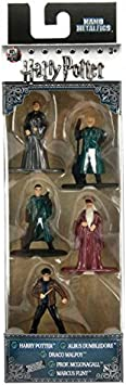 Jada Nano Metalfig Figuras de Harry Potter de pequeño tamaño, Paquete de 5 Unidades:Paquete de 2 Unidades (Harry [séptimo año], Dumbledore, Malfoy Quidditch, Prof McGonagall, Marcus Flint)