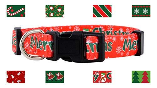 Native Pup Christmas Dog Collar (Small, Merry Christmas)