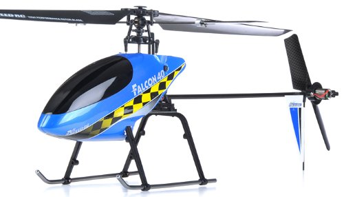 Exceed RC 2.4Ghz Falcon 40 V2 4-Channel RC Helicopter RTF Fixed Pitch - 100% Ready-to-Fly w/ Lipo Battery & LCD Transmitter Monitor (Blue OR NEXT AVAILABLE COLOR SENT AT RANDOM)
