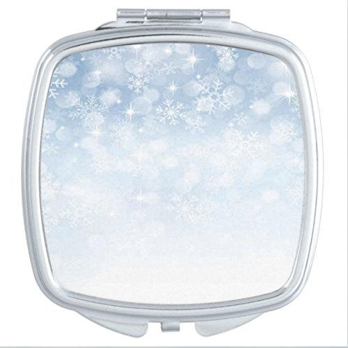 Winter Snowflake Rounded corners Square Make-up mirror