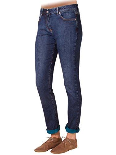 Azul Regular Extensible 752 620 Tejido Para Cintura Carrera Jeans Mujer Estilo Recto Ajuste Normal Denim fqn6wvH8