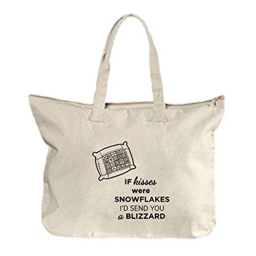 If Kisses Were Id Send You A Blizzard Canvas Beach Zipper Tote Bag - Florida Beach Blizzard