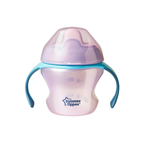 Tommee Tippee Closer to Nature First Sips Transition Cup, BPA-Free, 4+ Months, Non-Spill, Pink, 5 Ounce, 1 Count