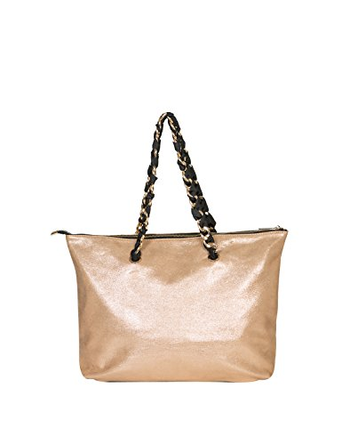 Silvian Heach Womens Roccabianca Womens Gold Tote Bag Gold