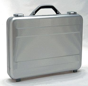 (T.Z. Case International T.z Slimline Molded Aluminum Attache Case, Silver, 18 X 13 X 3)