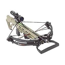 Carbon Express X-Force Advantex Crossbow Kit (Rope Cocker, 3 Arrow Quiver, 3 Crossbolts, Rail Lubricant, 3 Practice Points, 4x32 Scope) - Tan