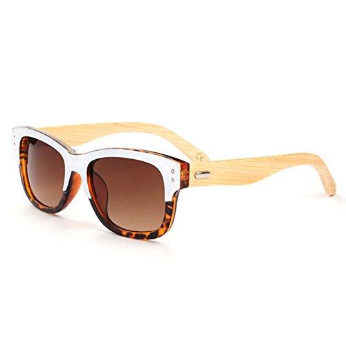 hommes soleil bois Plastic de soleil Case Bois Lunettes Mode pour en soleil de Lunettes 2 de avec Frame Lunettes Bambou 6919 Bamboo juli UqPwX6z