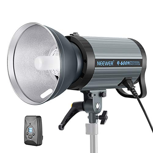 Neewer 600W GN82 Studio Flash Strobe Light Monolight with 2.4G Wireless Trigger and Modeling Lamp, Recycle in 0.01-1.2 Sec, Bowens Mount for Indoor Studio Portrait Photography(Q600N)