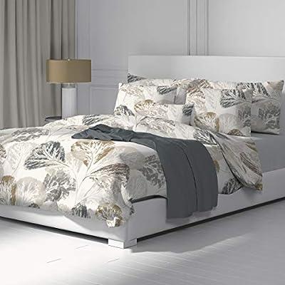 SoulBedroom Elizabeth - Juego de cama (100% algodón, funda nórdica y funda de almohada de 80 x 80 cm), algodón, carbón, 135 x 200 cm: Amazon.es: Hogar