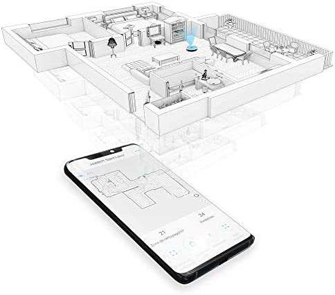 AMIBOT Spirit Laser H2O - Robots Aspirateurs et laveurs cartographie Laser connecté iOS/Android - Home Robots