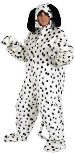 Adult Ladies Mens Fur Dalmatian Dog Animal Festival