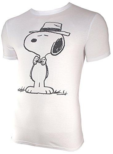 T-Shirt Die Peanuts: Snoopy mit Hut und Fliege