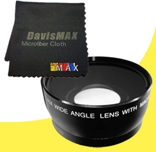 DavisMAX 55mm Wide Angle Lens for Sony Alpha SLT-A99V with Sony 35mm f//1.8 DT Prime Lens Fibercloth Lens Bundle