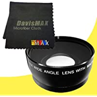 62mm Wide Angle Lens for Sony Alpha NEX-5N with Sony 10-18mm f/4 Wide Angle Zoom Lens + DavisMAX Fibercloth Lens Bundle