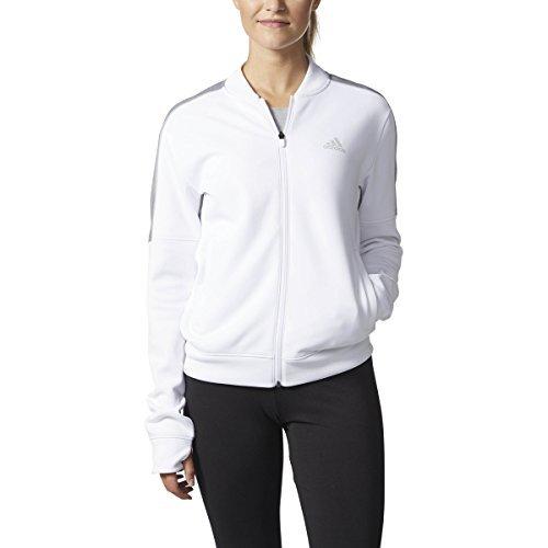 adidas Team Issue Jacket (Womens) (S, White/Grey)