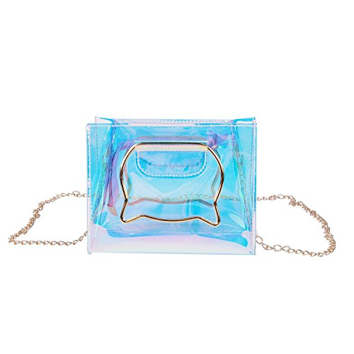 Jelly Crossbody Clear Women Bag Female Bags Shoulder Fashion Chain Cat SODIAL Quality Messenger Handle Hologram Handbags High ASCqxFnpw