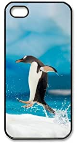 For SamSung Galaxy S5 Phone Case Cover PC Hard Shell Penguin Jumping Black Skin by Sallylotus