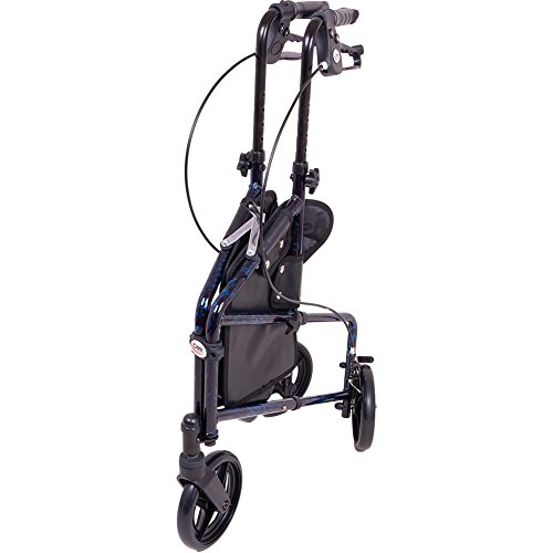 Carex 3 Wheel Walker For Seniors, Foldable, Rollator Walker With Three Wheels, Height Adjustable Handles by Carex Health Brands (Image #6)