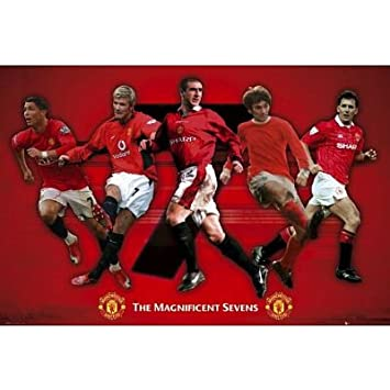 21efd099b Manchester United FC Magnificent 7s Sports Poster Print - 24x36  Amazon.ca   Home   Kitchen