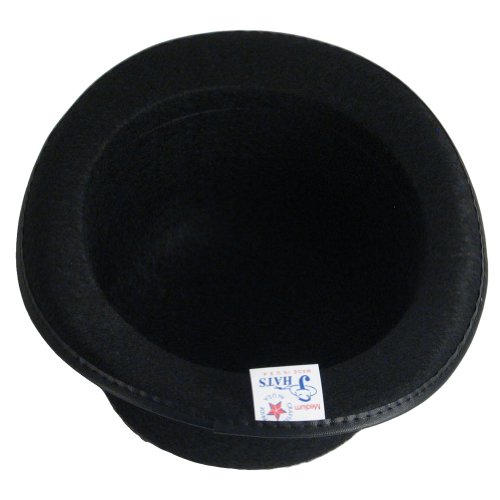 New Black Felt Bowler Derby Hat Costume Dance Plays Medium Made in USA