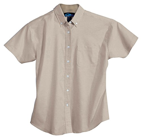 Tri Mountain Womens Stain Resistant Oxford Dress Shirt Sand X Small