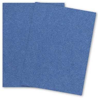 Metallic 8.5X11 Card Stock Paper - SAPPHIRE - 105lb Cover (284gsm) - 25 PK