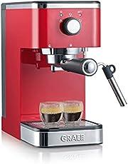 Graef ES403EU Salita 1400 Espressomachine met zeefhouder, rood, 1400 W