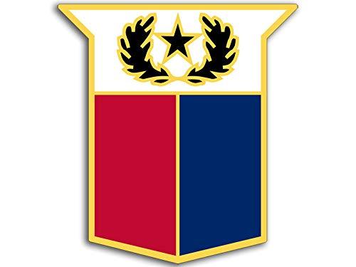 American Vinyl Texas Army National Guard Logo Sticker (tx Armed hq Insignia)