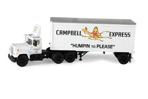 - Mack R Model With 28' Pop Trailer Campbell 66 Express 1/64 by First Gear 60-0254