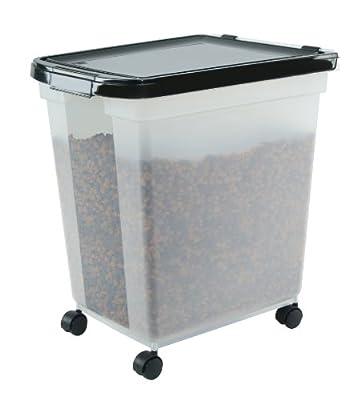 IRIS Airtight Pet Food Container, 50-Pound, Clear/Black by IRIS