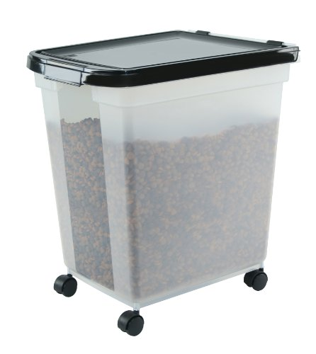 IRIS Airtight Pet Food Container, 50-Pound, Clear/Black