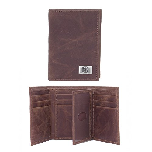 - Eagles Wings NCAA North Carolina State Wolfpack Men's Tri Fold Wallet, One Size, Brown