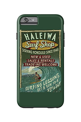 Haleiwa, Hawaii - Surf Shop Vintage Sign (Honolulu Version) (iPhone 6 Plus Cell Phone Case Cell Phone Case, - Shop Honolulu