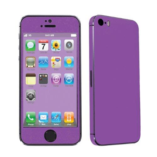 Apple iPhone 5S Full Body Vinyl Decal Protection Sticker Skin By SkinGuardz - Hot Purple