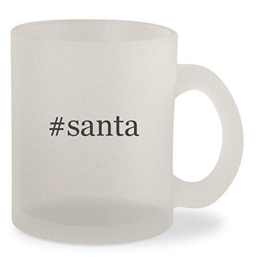 #santa - Hashtag Frosted 10oz Glass Coffee Cup Mug (Santa Margherita Pinot)