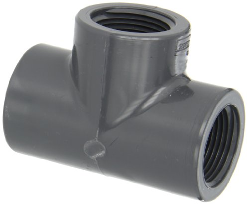 Spears 805 Series PVC Pipe Fitting, Tee, Schedule 80, 1
