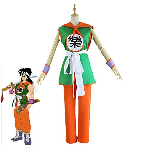 Dragon Ball Z Cosplay Halloween Costume Movie Theme Super Son Goku Yamcha Battle Suit Cosplay Costume for Cosplay Show Party Man Women,M -