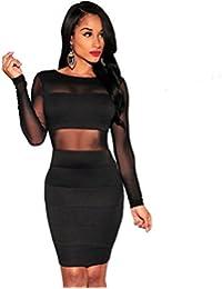 Vestidos De Fiesta Ropa Para Mujer De Moda 2018 Sexys Cortos Negros Elegantes Casuales VE0011